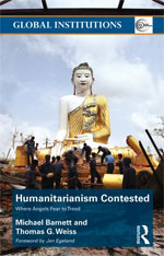 book cover: Humanitarianism Contested