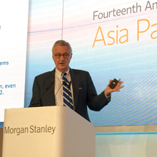 Image: Professor David Shambaugh delivers the keynote at the 14th Annual Morgan Stanley Asia Pacific Summit