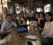 Associate Dean Mylonas meets with ESIA Alumni in Beijing