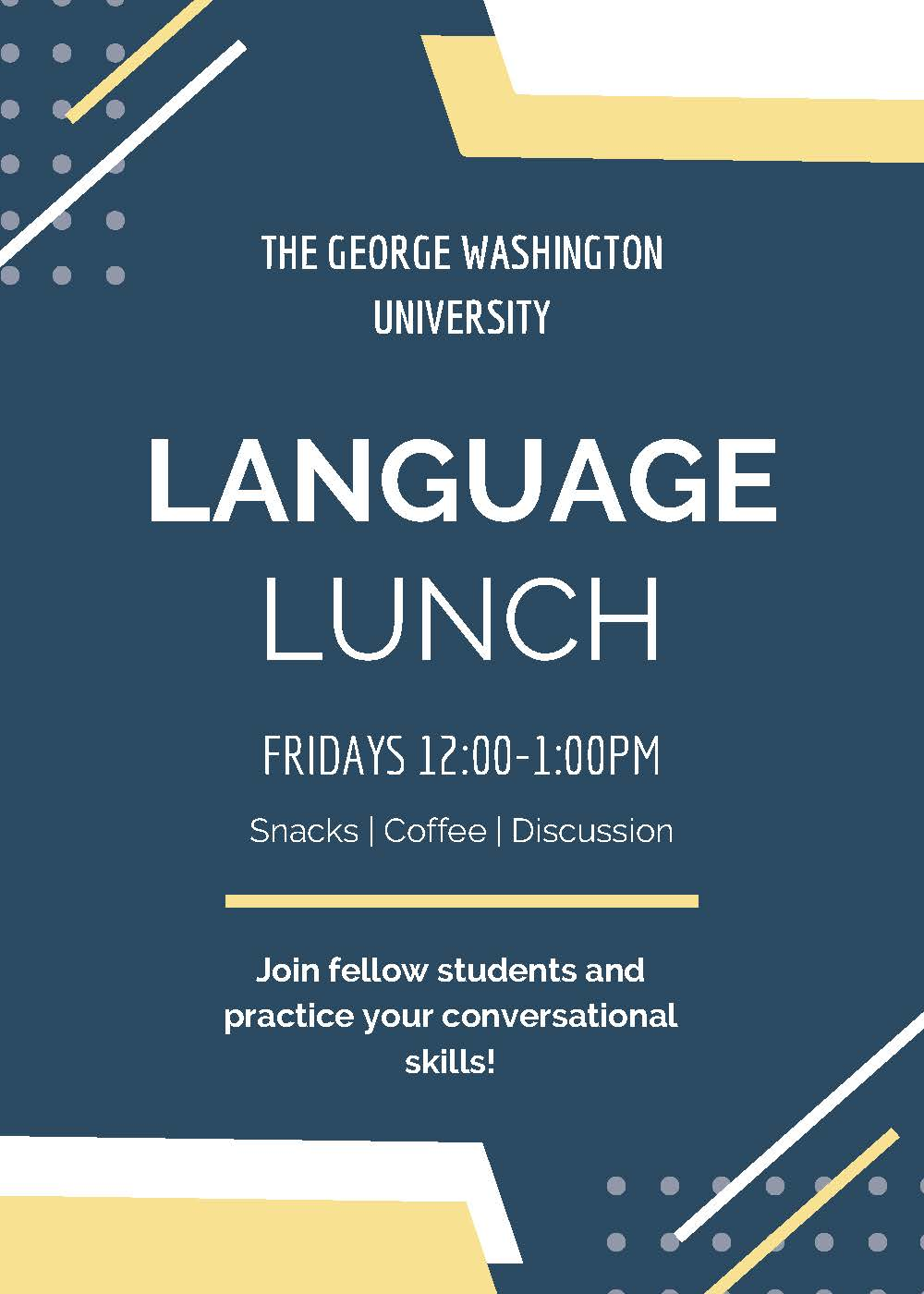 Language Lunch flyer