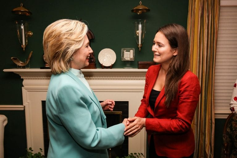 photo: Alumna meets with Hillary Clinton