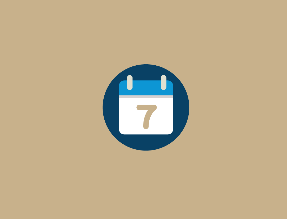 Graphic: A calendar icon on a tan background