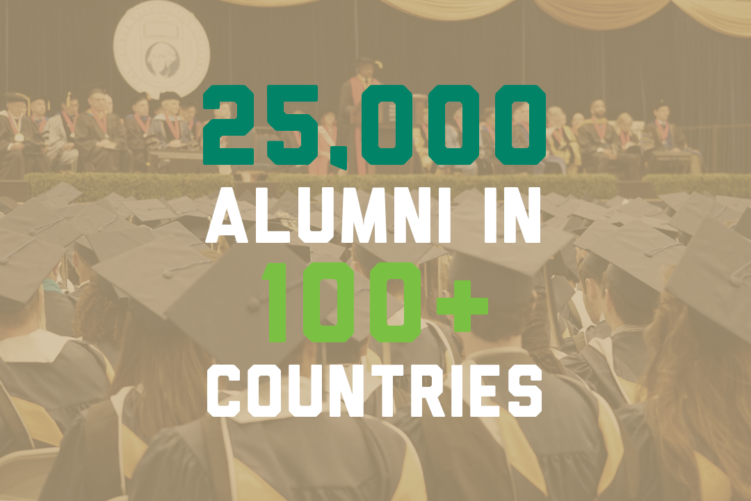 25,000 alumni in 100+ countries