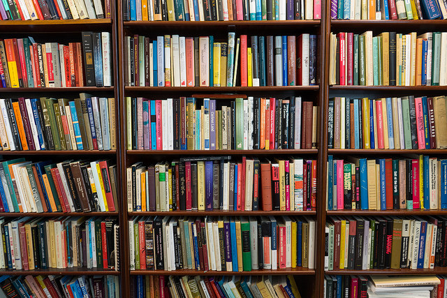 photo: Books on bookshelf