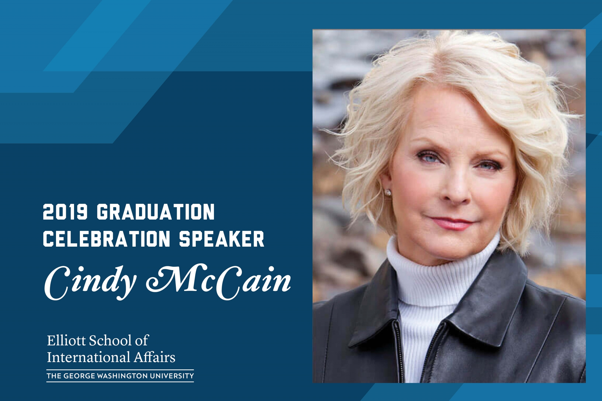 Photo: Cindy McCain announced as 2019 Graduation Celebration speaker