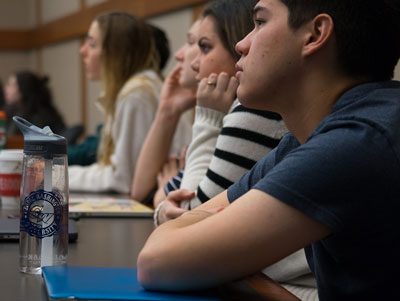 Undergraduate students sitting in a lecture hall