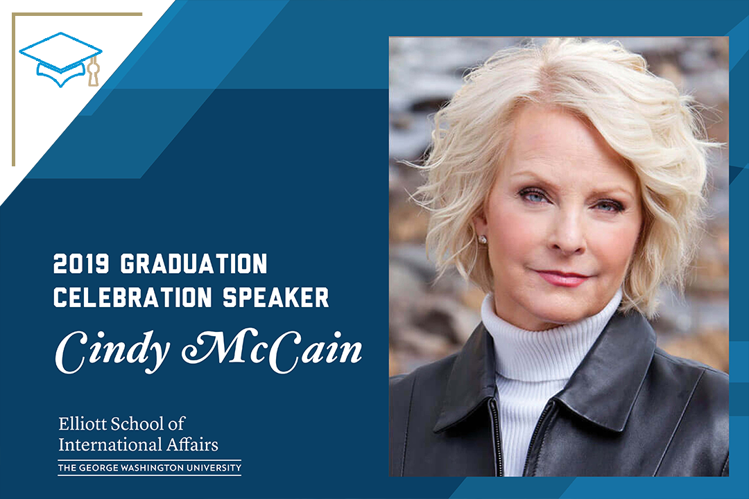 Graphic: Cindy McCain commencement speaker 2019