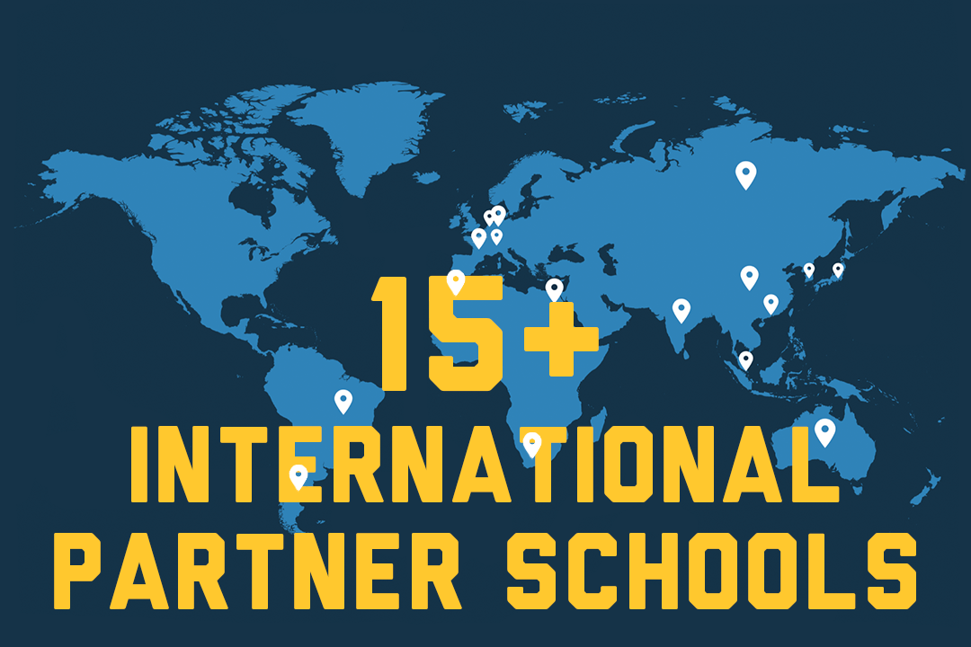 Graphic: 15+ International Partner Schools