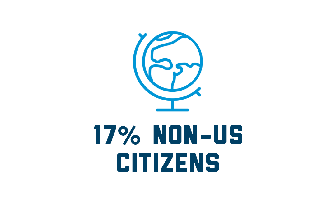 17 percent non-US citizens
