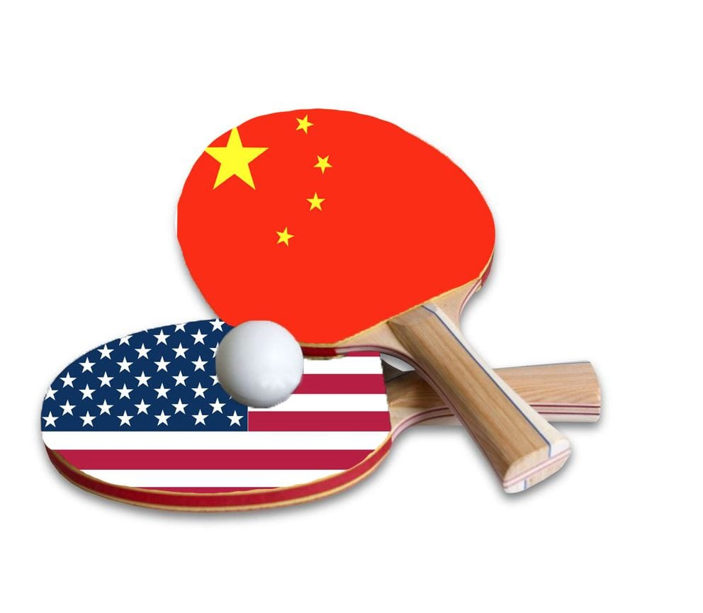 Graphic: Ping pong paddles with US and China flags
