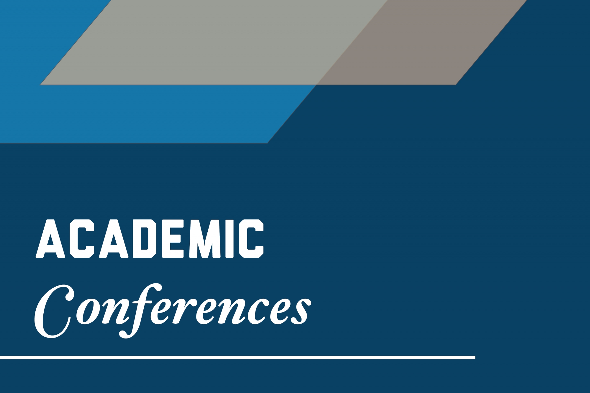 Graphic: Academic conferences