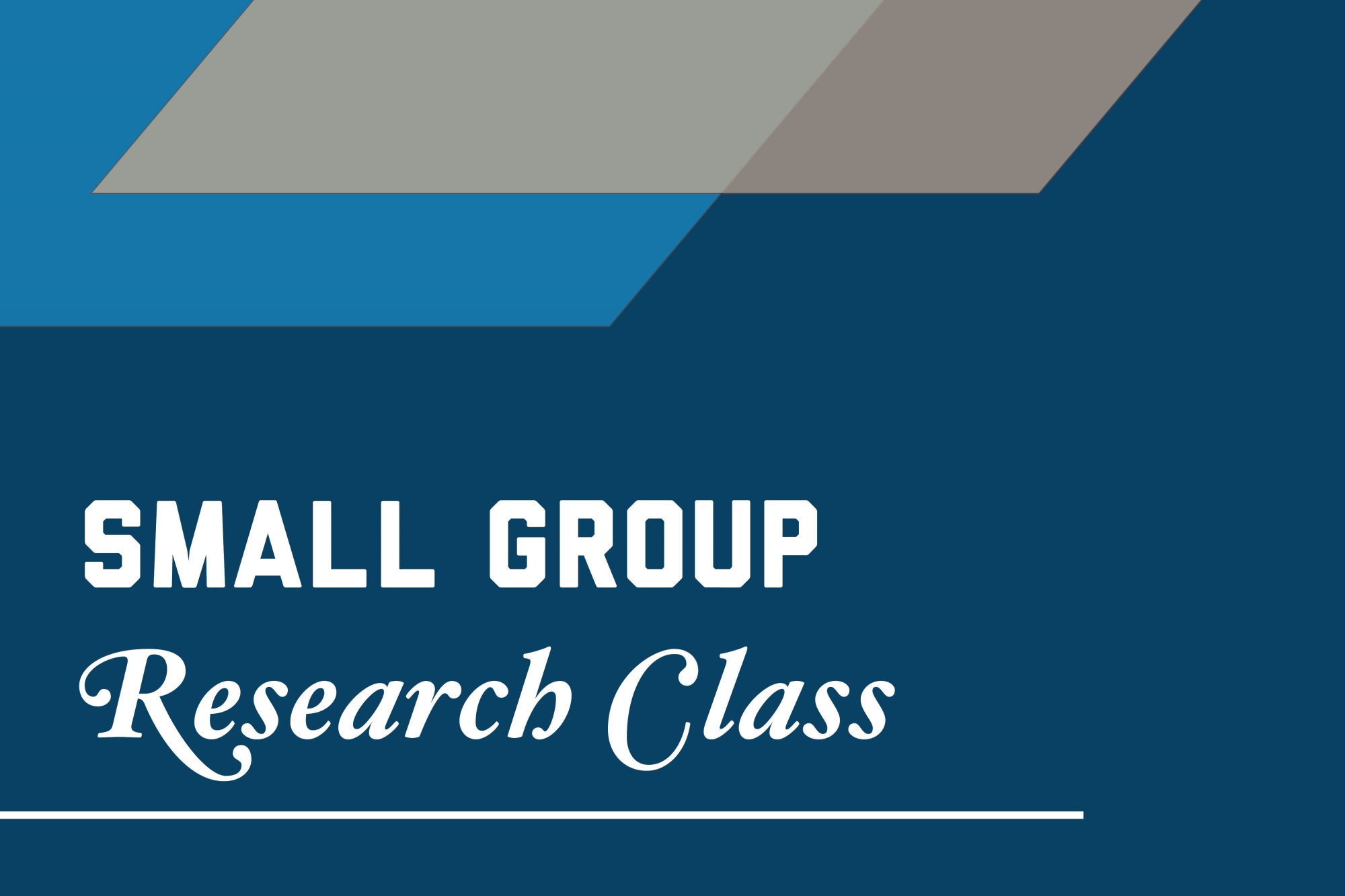 Graphic: Small group research class
