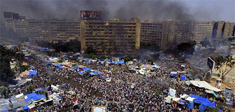 photo: Cairo protest camp evacuation