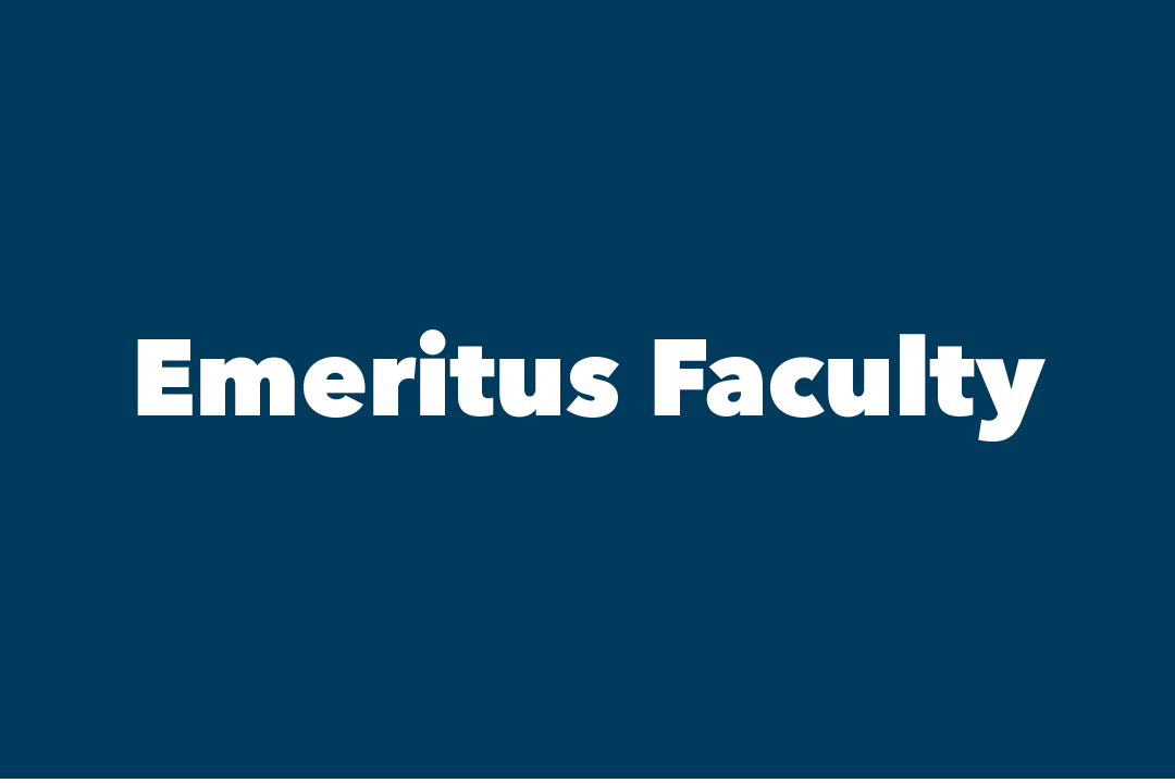 graphic: text, Emeritus Faculty