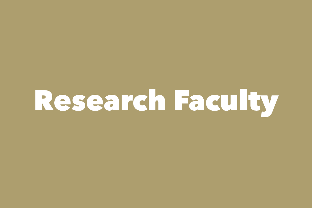 graphic: text, Research Faculty