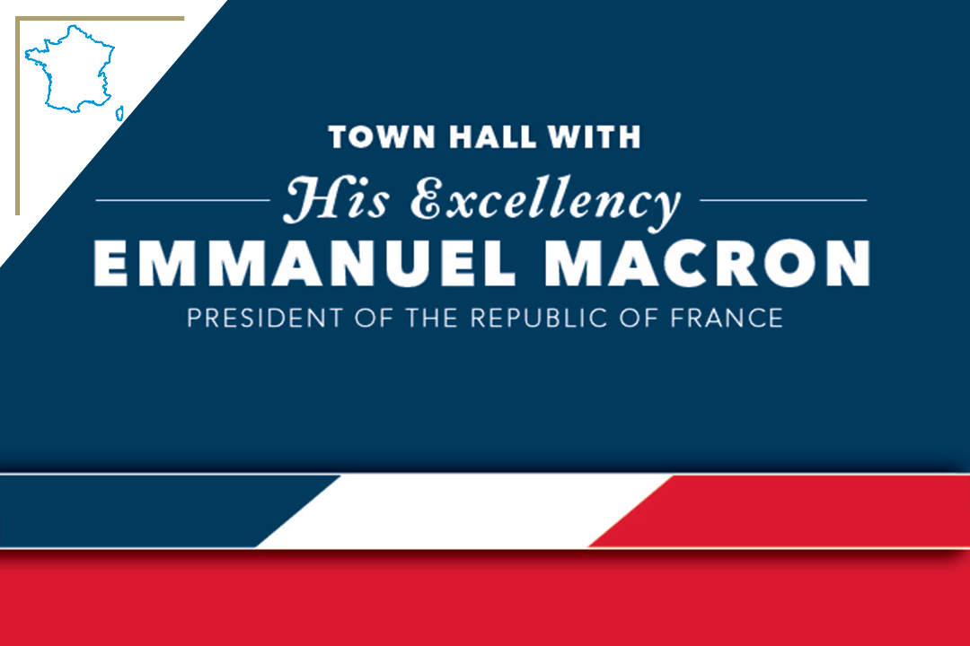 graphic: Town Hall with His Excellency Emmanuel Macron President of the Republic of France