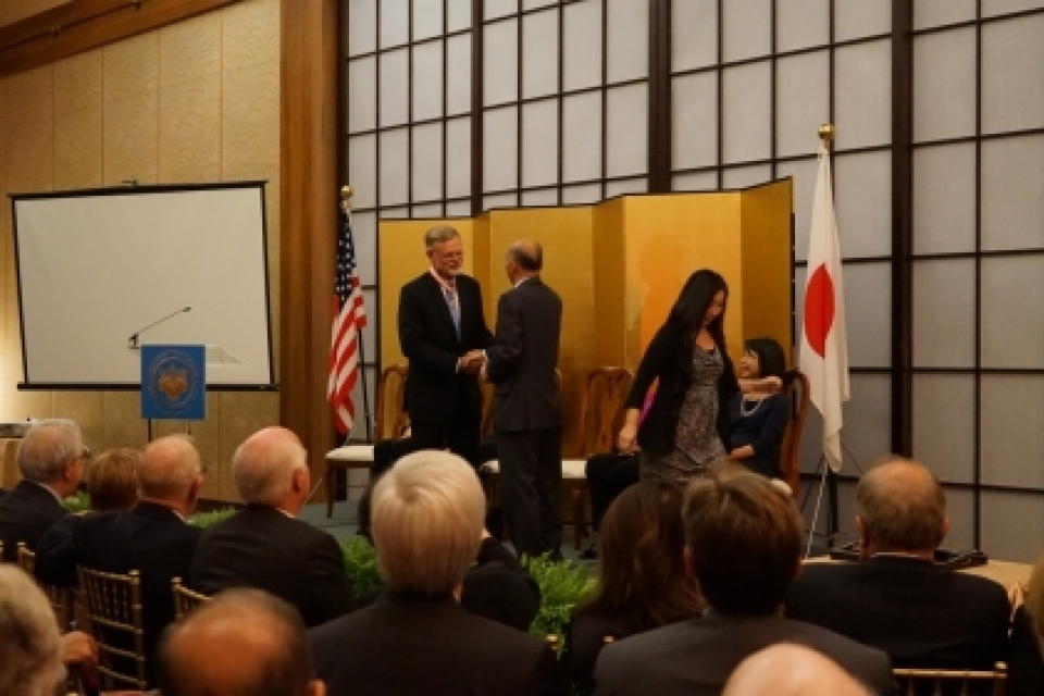 Henry Nau receives the Japanese Order of the Rising Sun