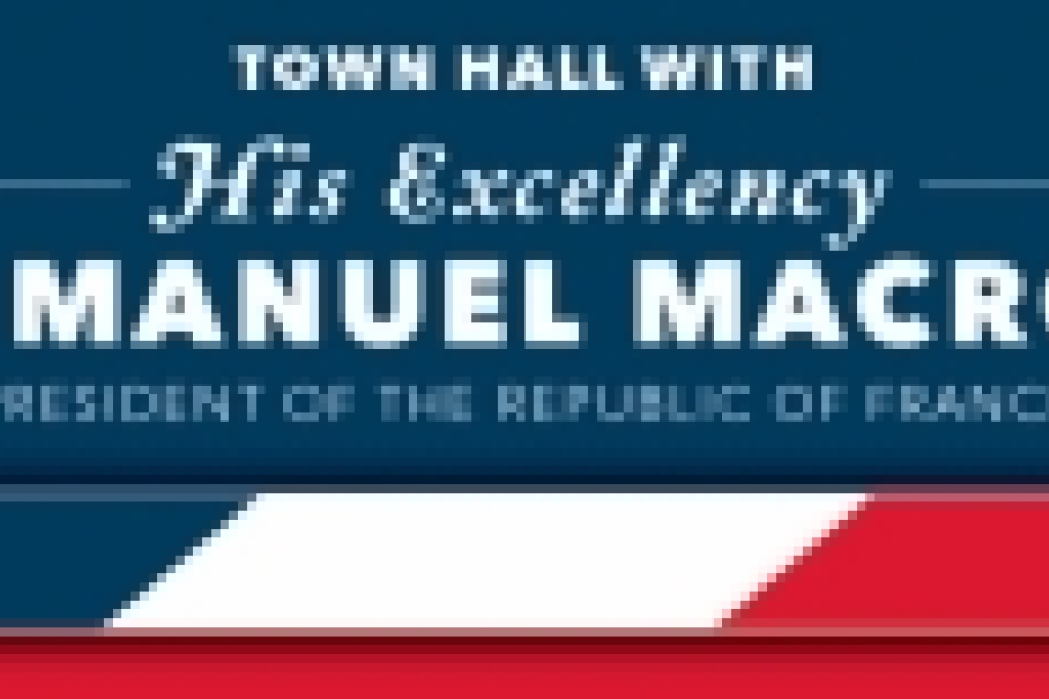 Town Hall with His Excellency Emmanuel Macron President of the Republic of France